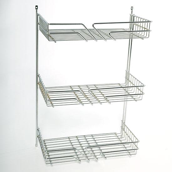Étagère-Design en fil de fer massif, avec 3 ou 4 étages